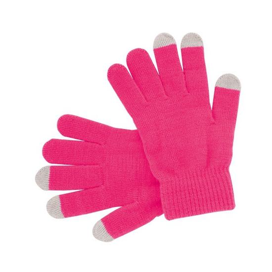 Telefoon handschoenen roze