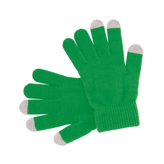 Telefoon handschoenen groen