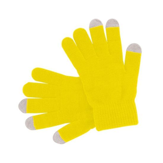 Telefoon handschoenen geel