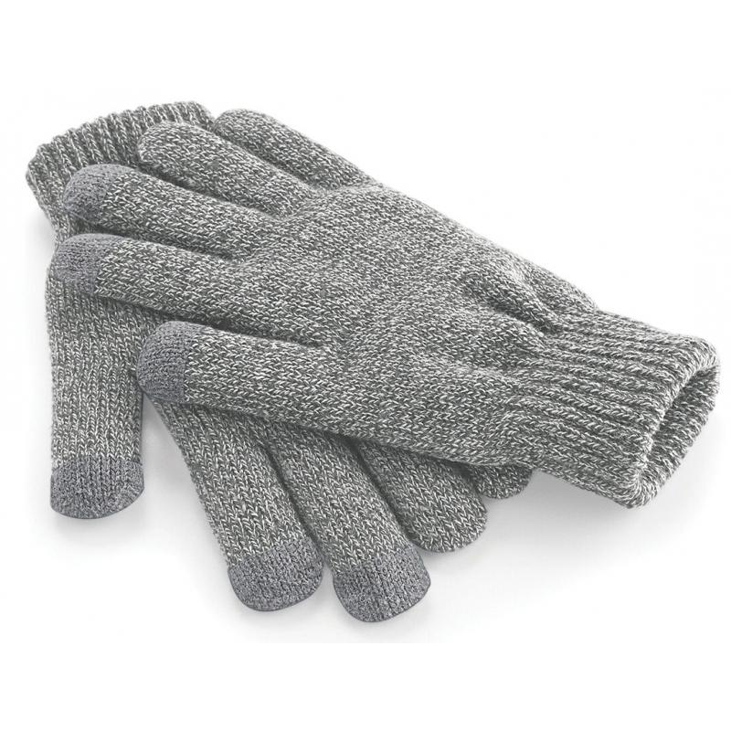 Telefoon handschoenen lichtgrijs