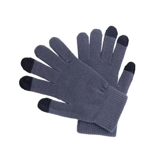Telefoon handschoenen grijs voor volwassenen
