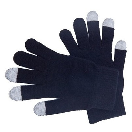 Telefoon handschoenen zwart voor volwassenen