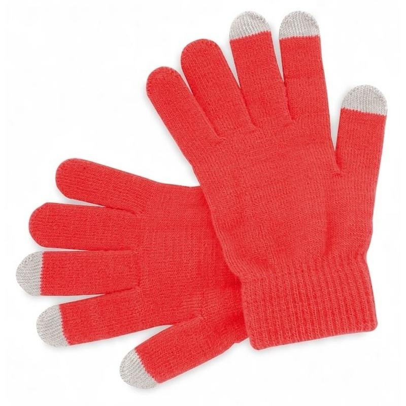 Telefoon handschoenen rood voor volwassenen