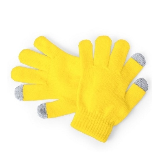 Telefoon handschoenen kind geel