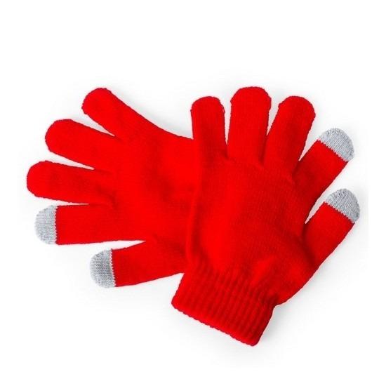 Telefoon handschoenen kind rood