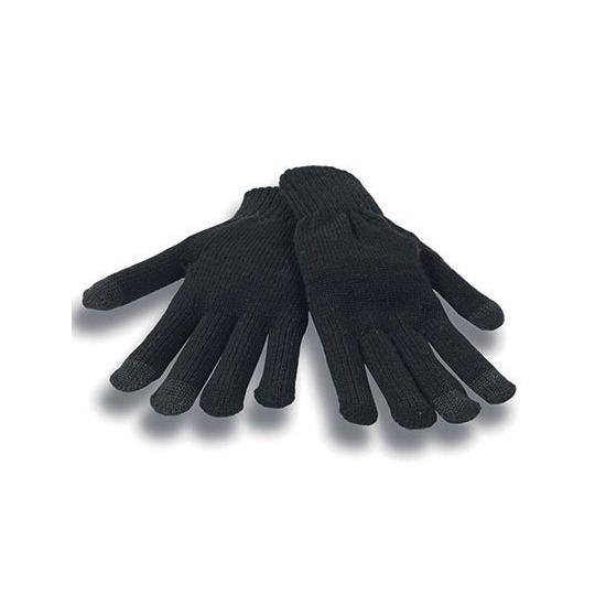 Telefoon handschoenen zwart voor volwassenen 10131292