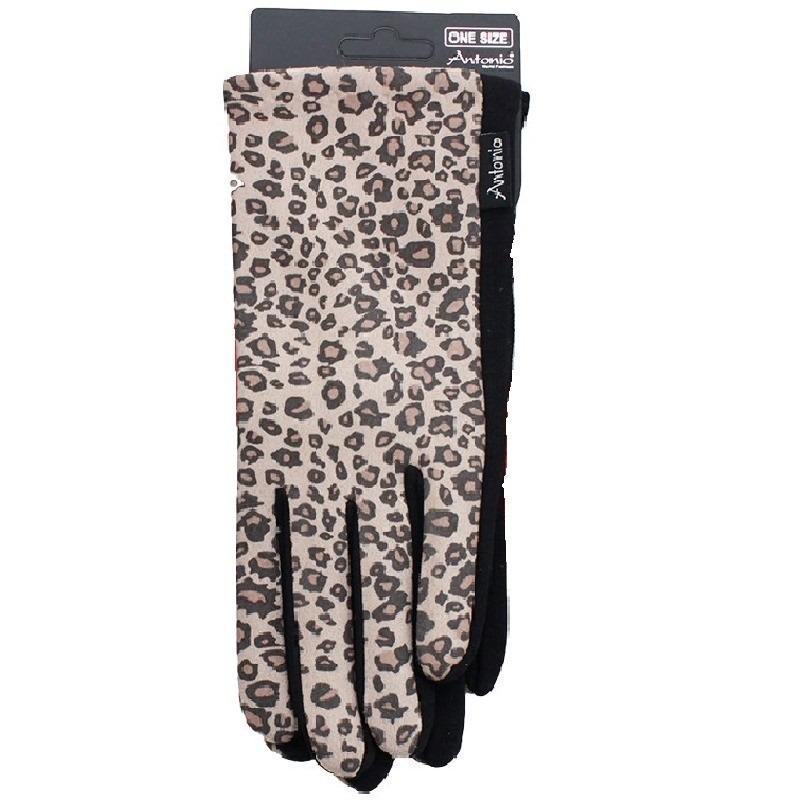 Telefoon handschoenen luipaard dierenprint voor dames