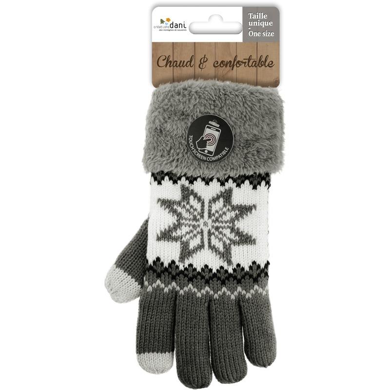 Telefoon handschoenen nordic grijs voor dames