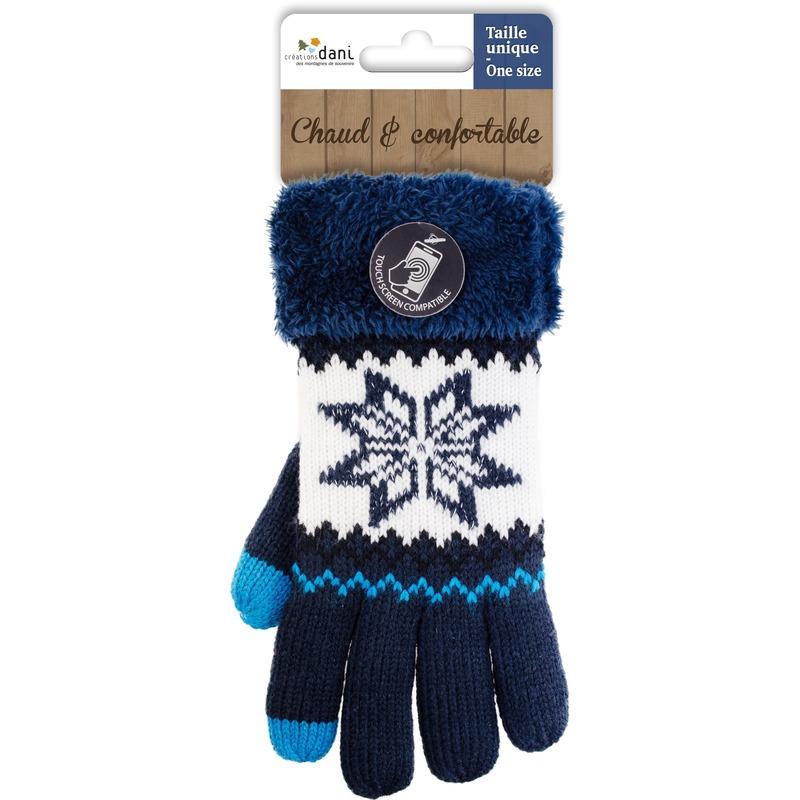 Telefoon handschoenen nordic navy blauw voor dames