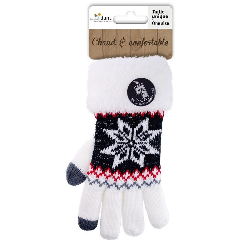 Telefoon handschoenen nordic wit voor dames