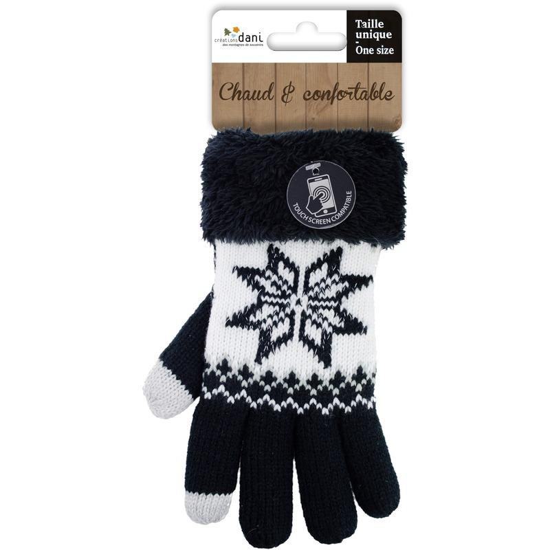 Telefoon handschoenen nordic zwart voor dames