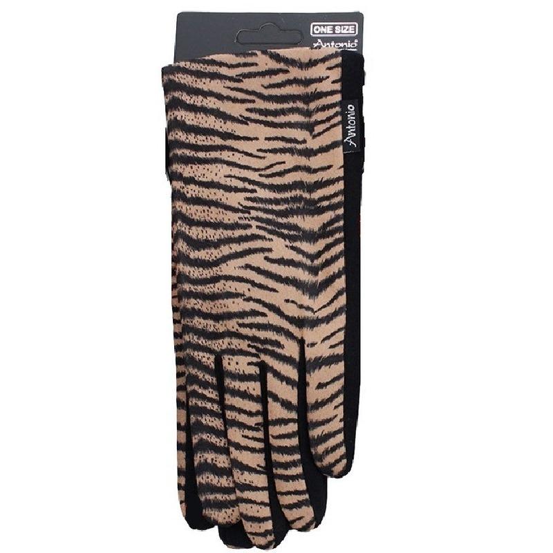 Telefoon handschoenen tijger dierenprint voor dames