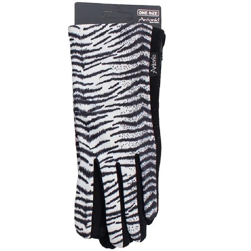 Telefoon handschoenen witte tijger dierenprint voor dames