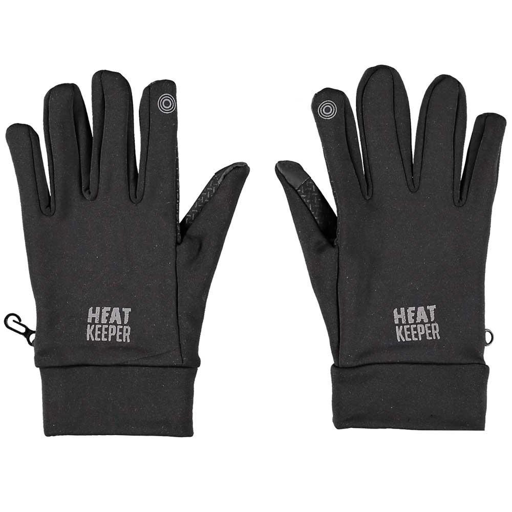 Zwarte thermo telefoon handschoenen voor heren